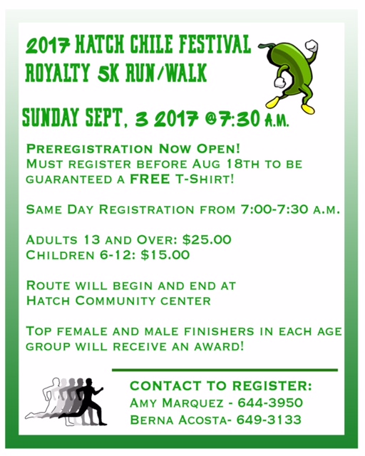 2017 Hatch Chile Fest 5K Run